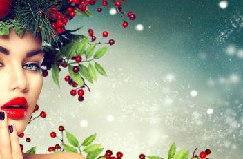 bigstock-Christmas-Woman-Makeup-Winter-156402224