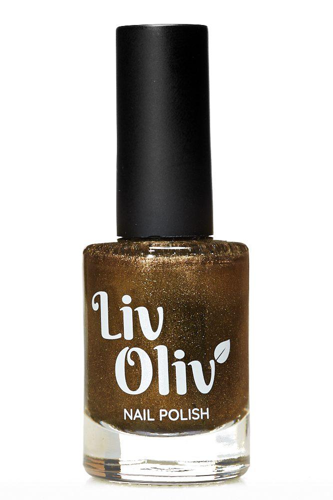 Gold Bronze magnetic cruelty free nail polish