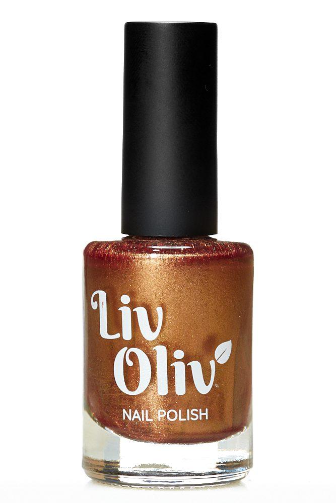 Livoliv cruelty free nail polish hazelnut