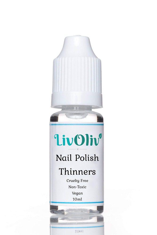 LivOliv Nail Polish Thinner bottle against white background